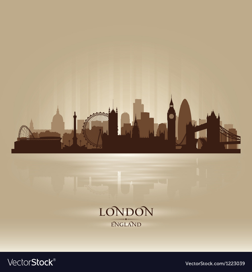 London England skyline city silhouette vector image