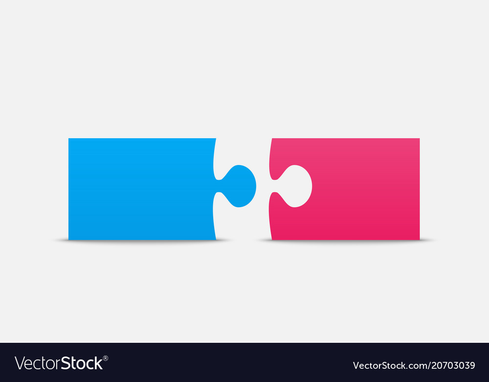 Two piece puzzle 2 step puzzle couple