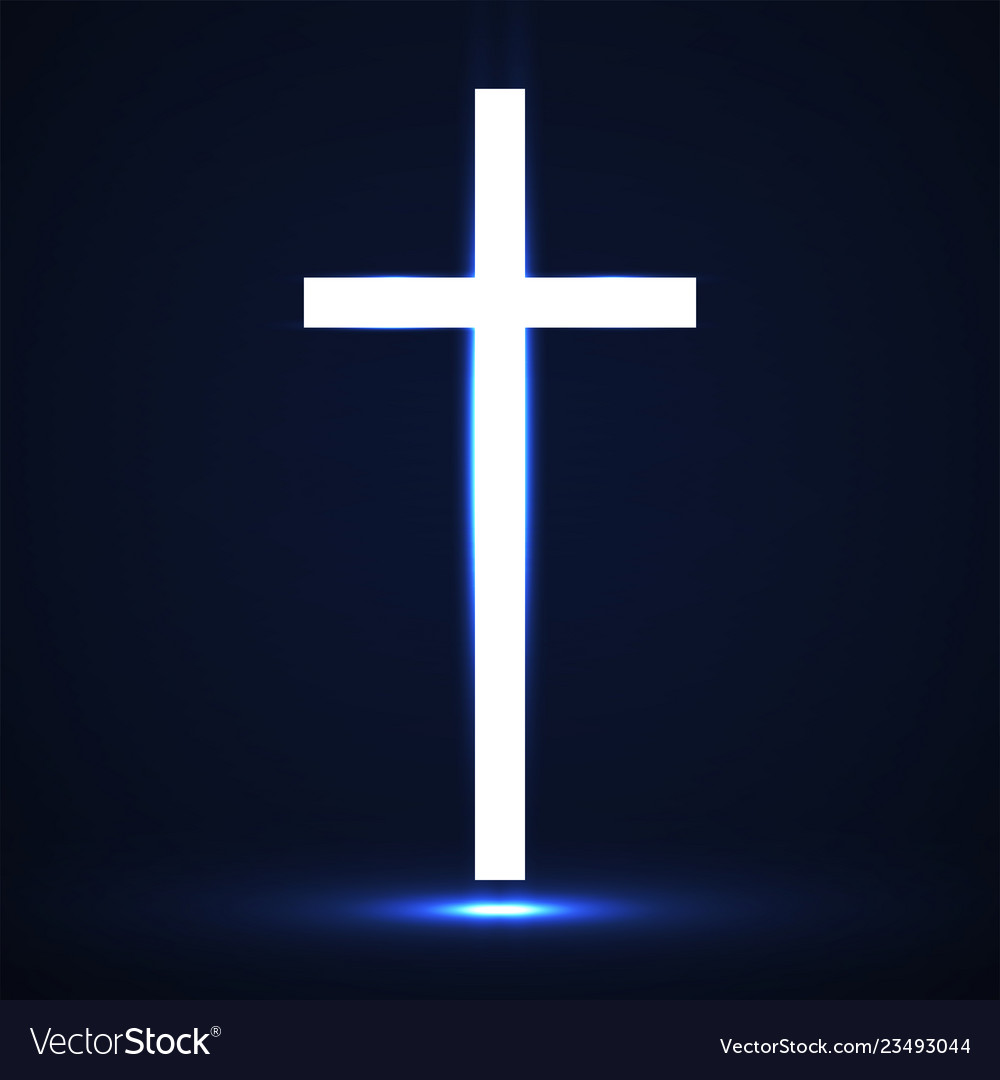 Abstract glowing christian cross