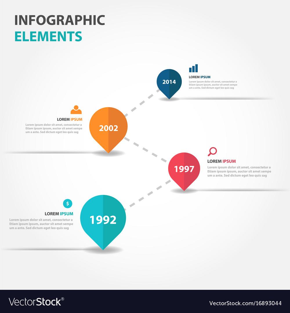 Colorful business timeline raodmap infographics vector image