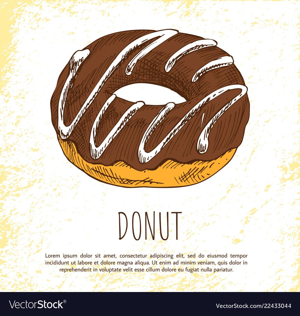 Donut sweet dessert isolated on white background