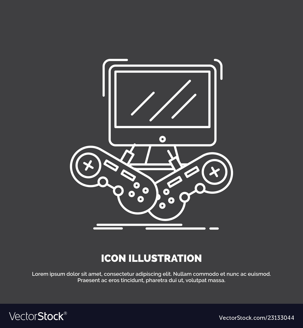 Game gaming internet multiplayer online icon line vector image on  VectorStock