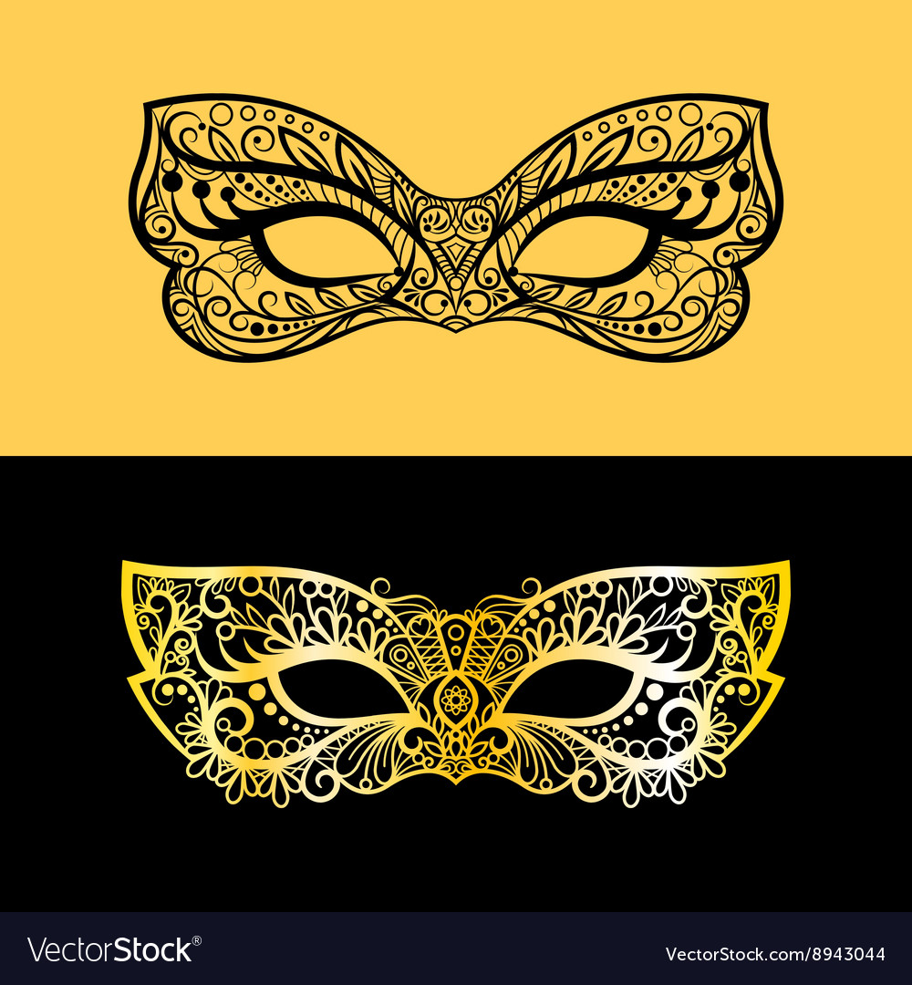 Gold lace venetian mask