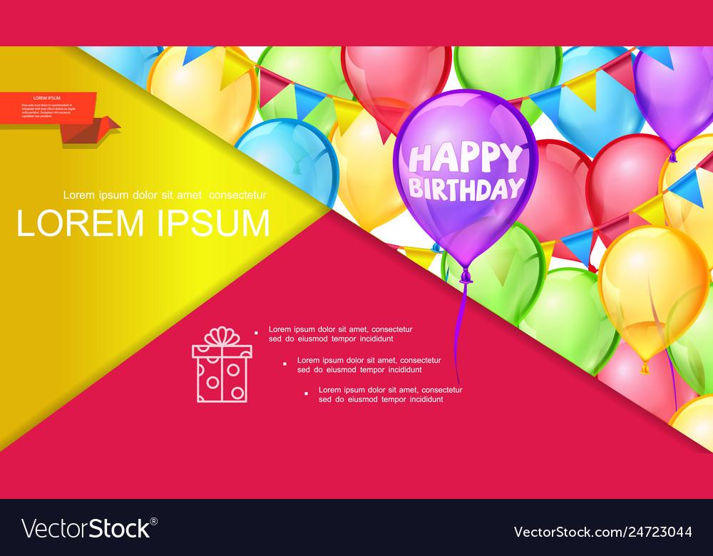 Happy birthday bright concept