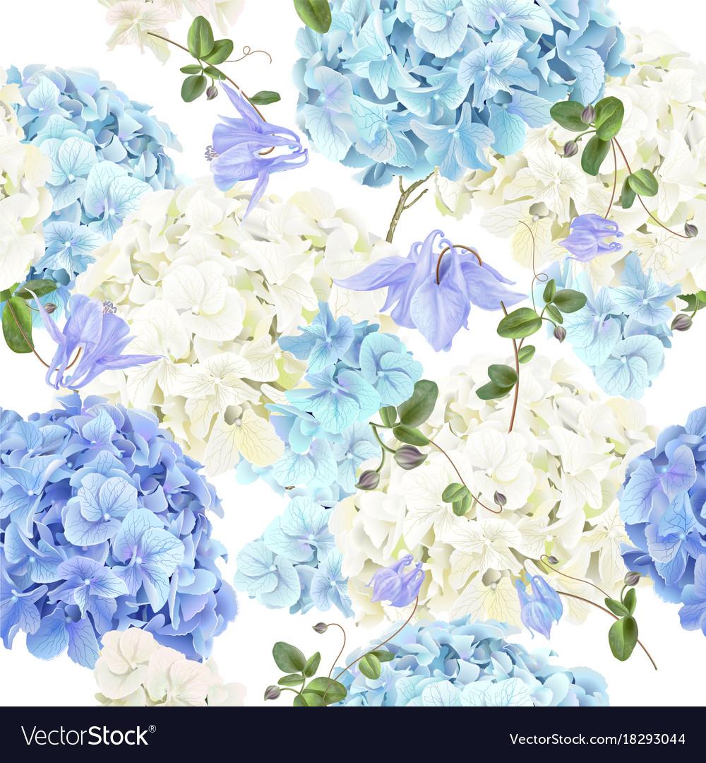 Hidrangea blue pattern