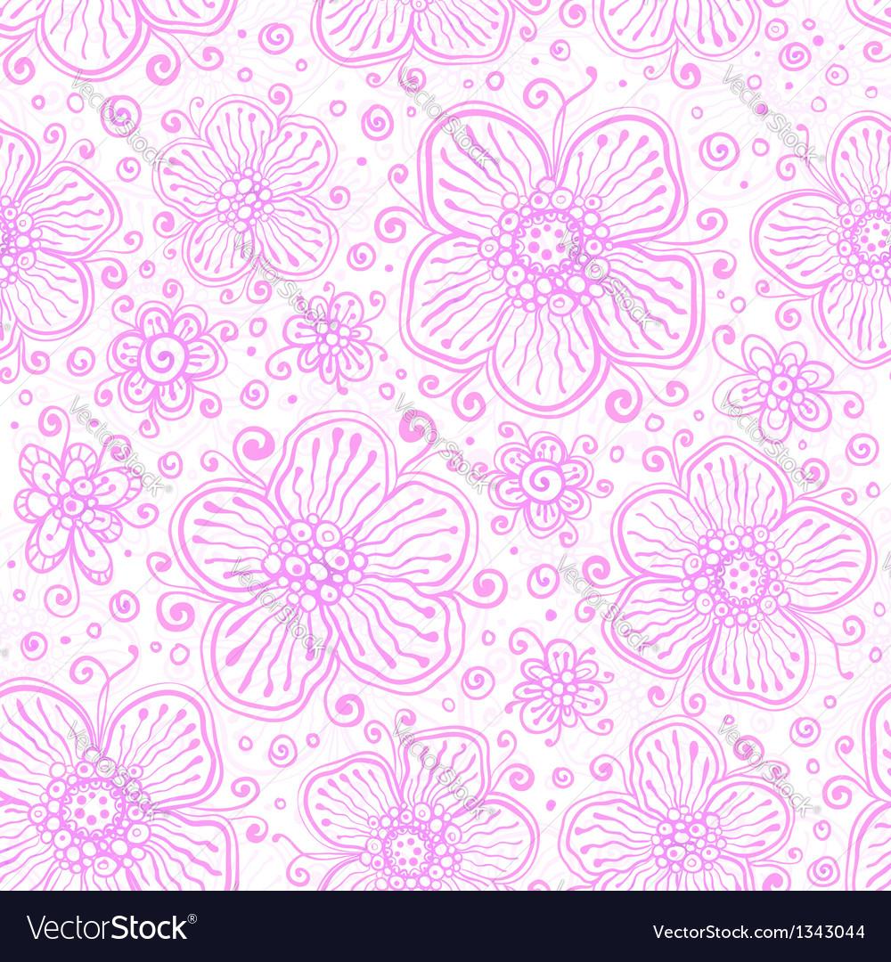 Light pink flourish seamless pattern vector image