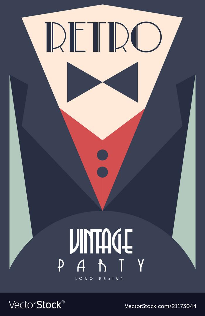 Retro vintage party design element for poster