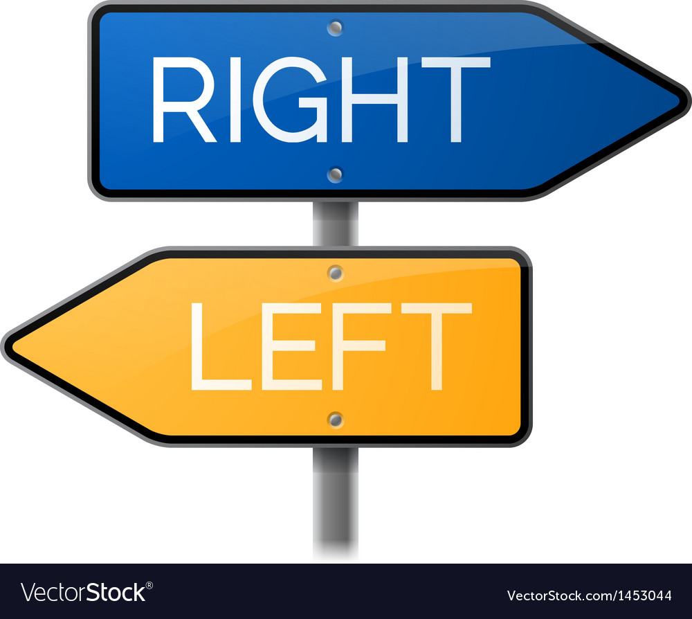 Right or Left Sign Choice