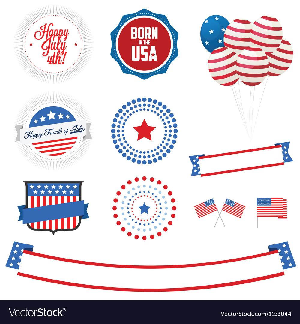 Set independence day design elements