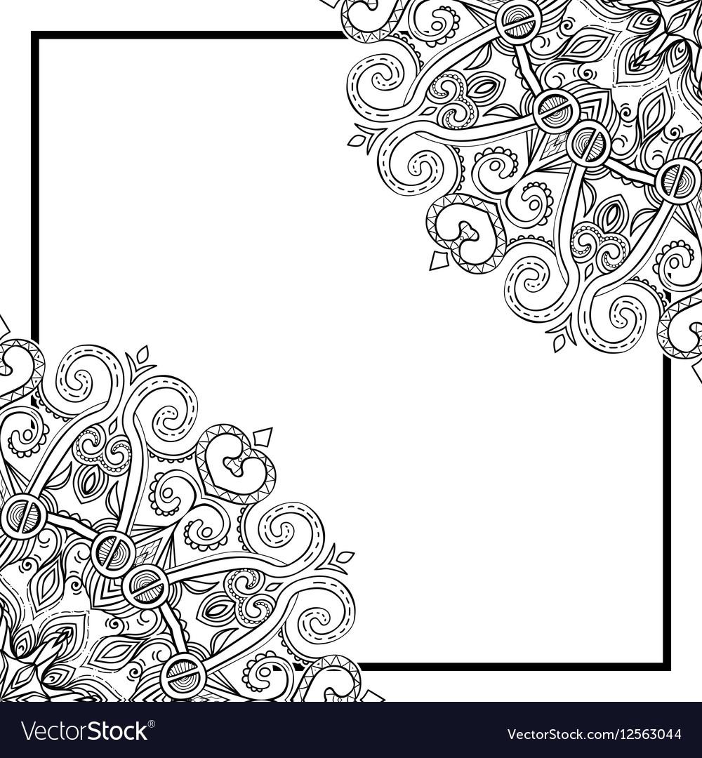 Square Mandala Frame-031