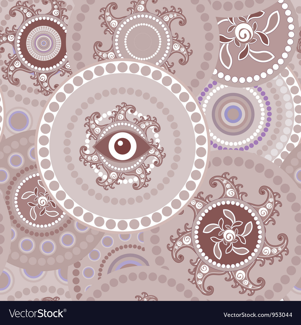Tribal seamless paisley abstract texture