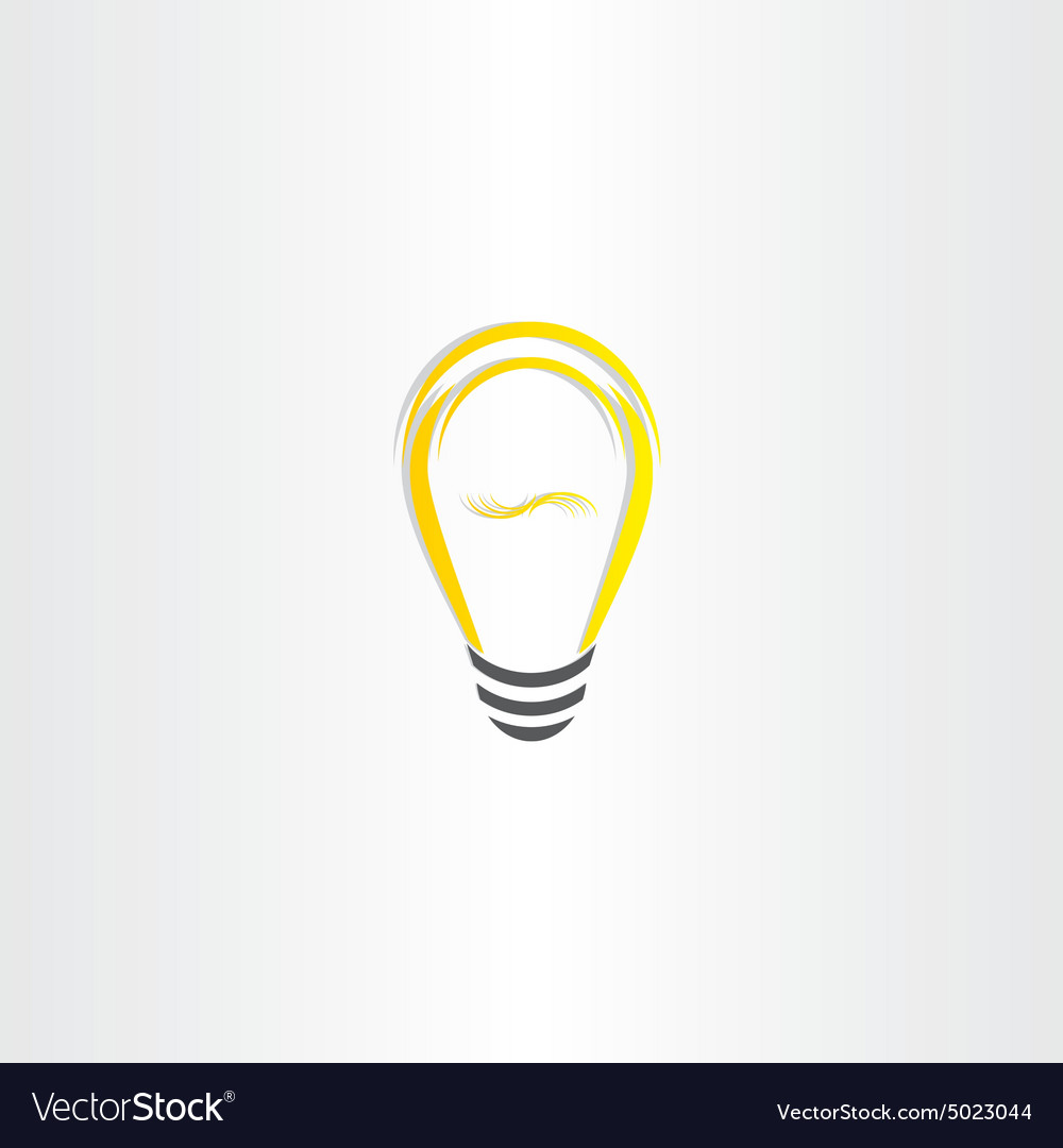 Yellow bulb icon design
