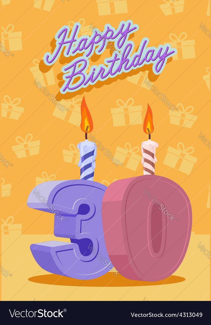 30 years celebration 30nd happy birthday
