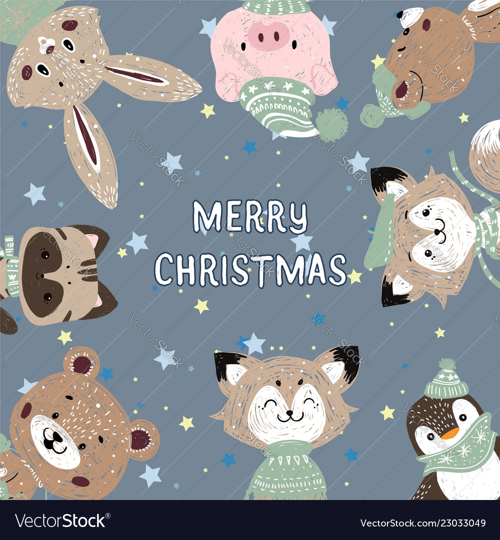 Christmas posters template for