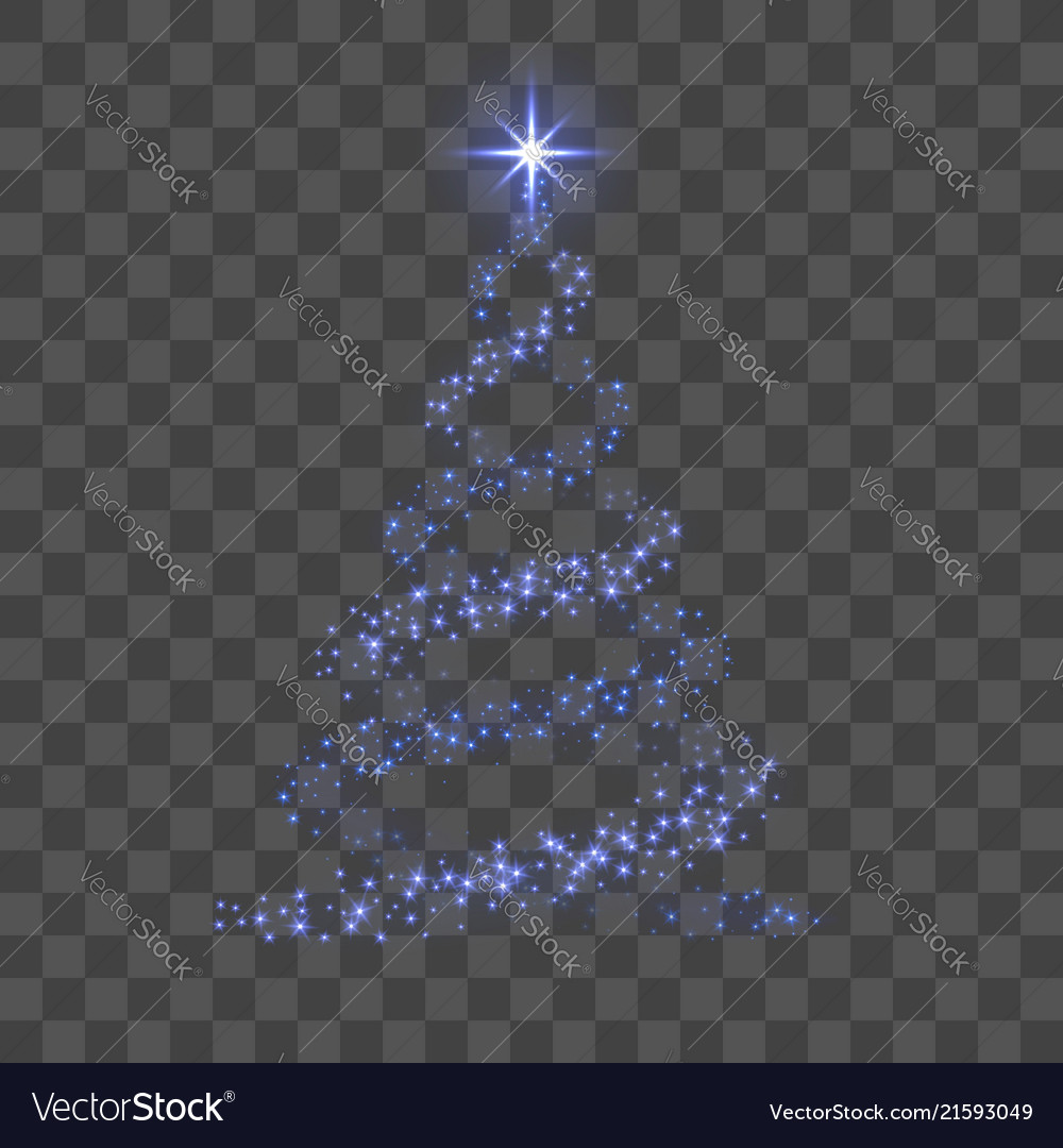 Christmas Tree Transparent Background.Christmas Tree 3d For Card Transparent Background