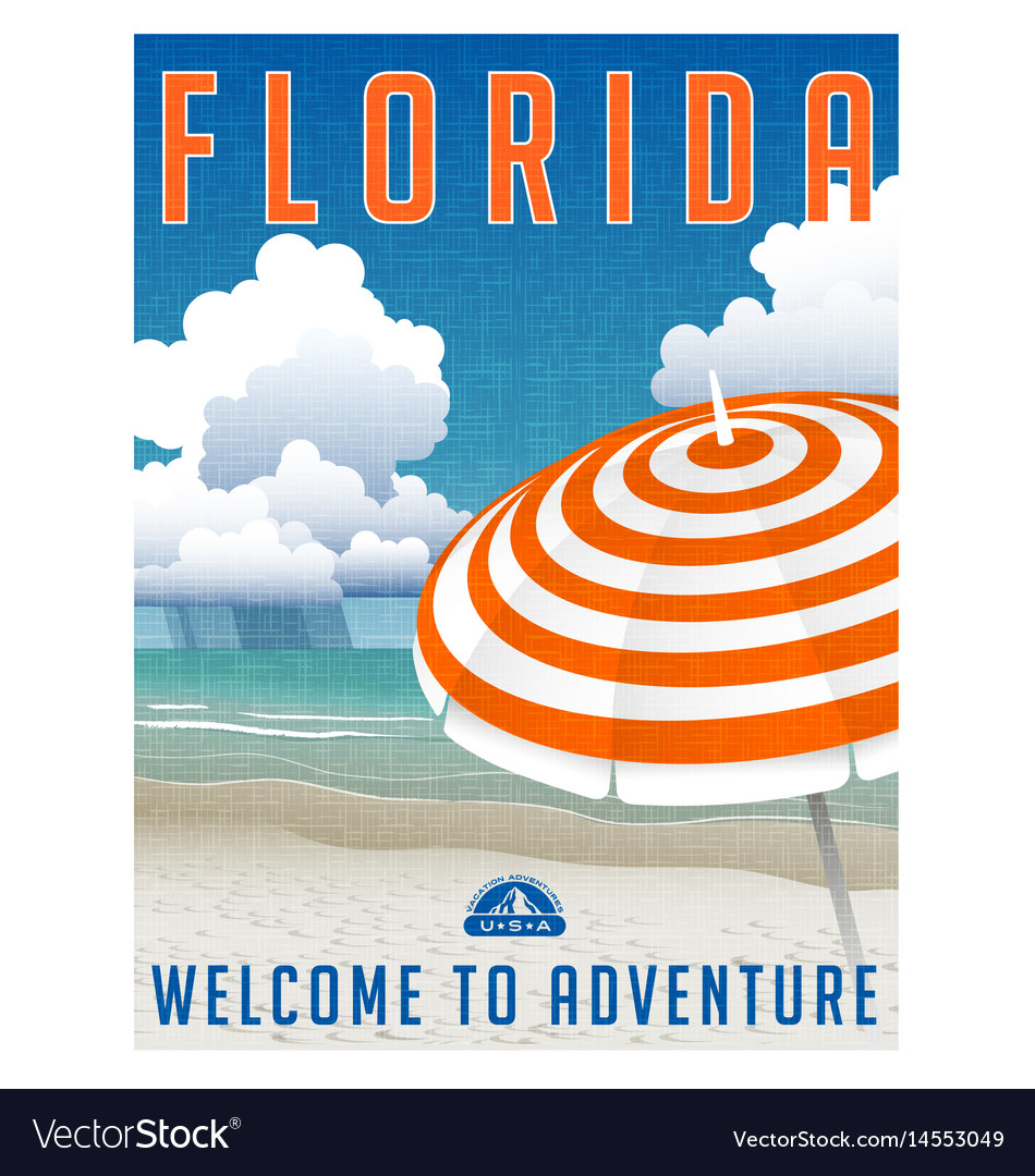 Florida travel poster or sticker