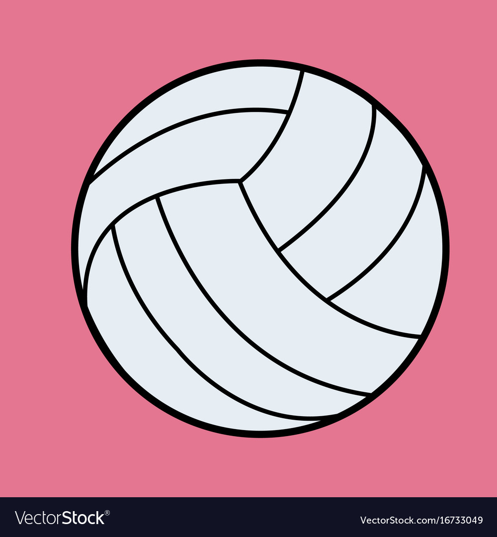 White volleyball volleyball icon on pink