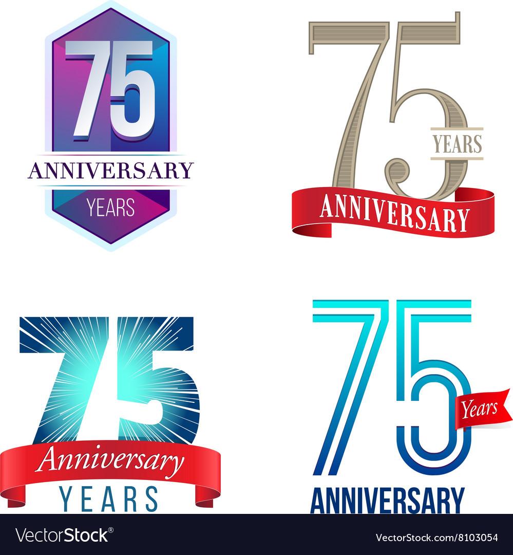 75 Years Anniversary Symbol Royalty Free Vector Image