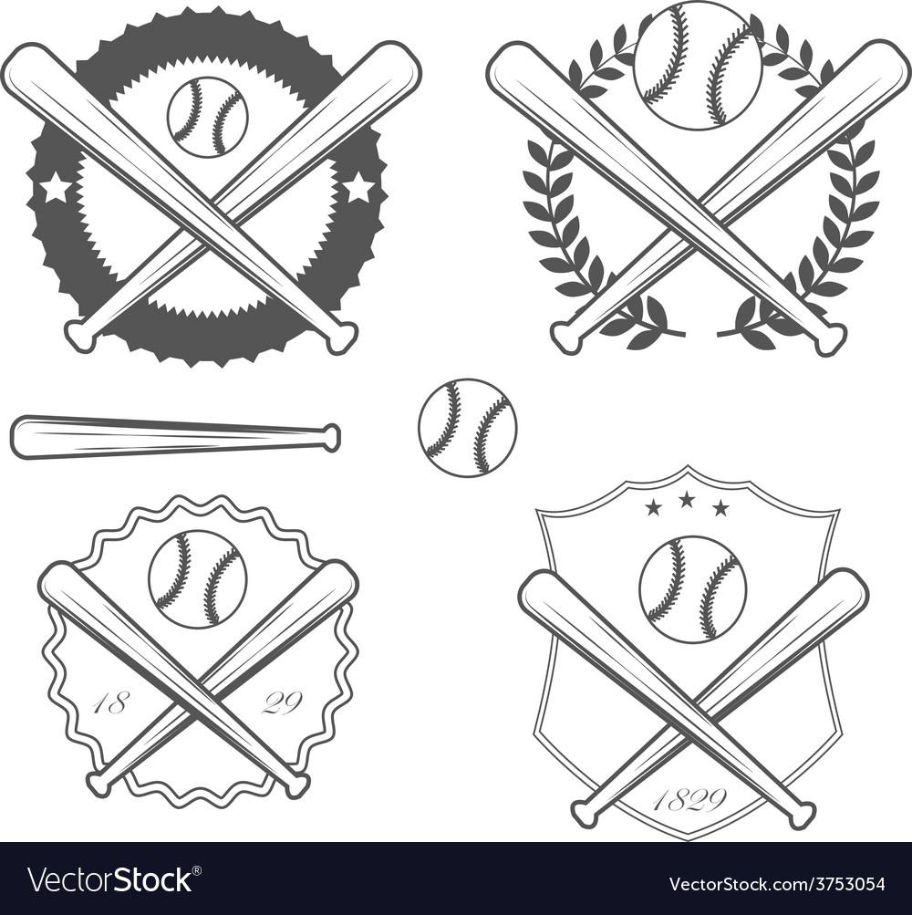 American baseball vector image