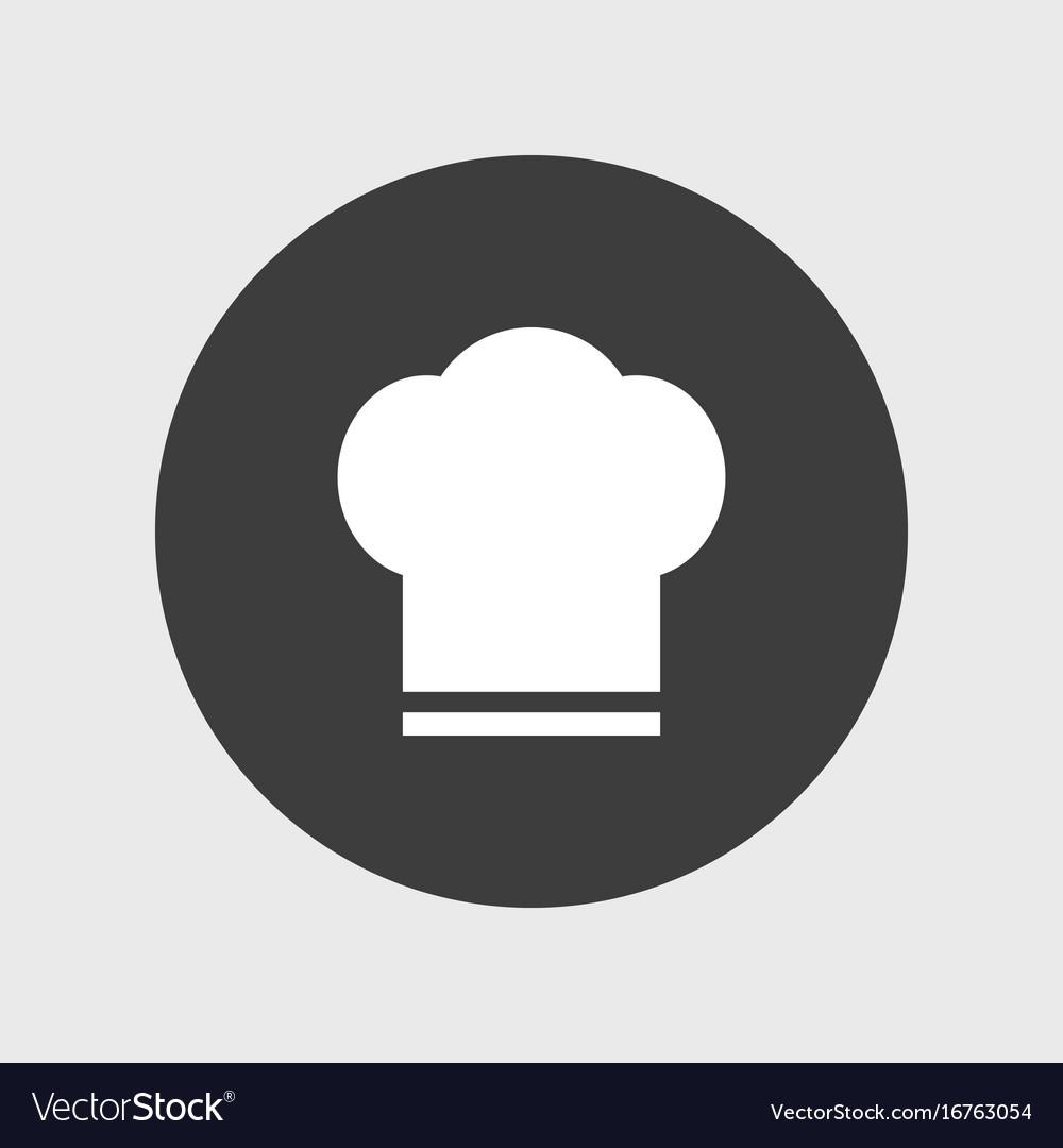 Chef hat icon simple vector image