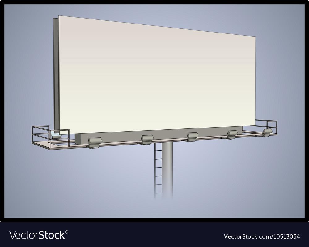 Detailed billboard vector image