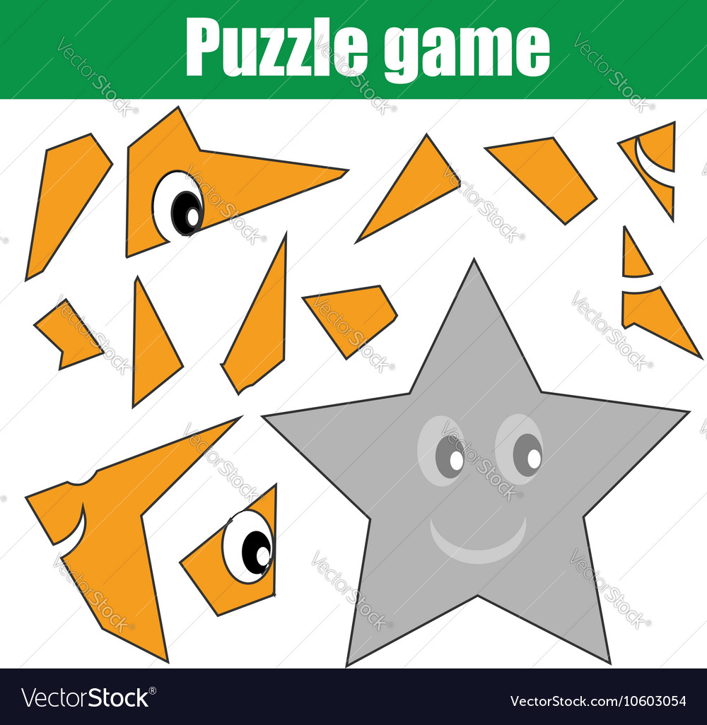 picture regarding Star Magazine Crossword Puzzles Printable referred to as Puzzle recreation with star condition Printable youngsters