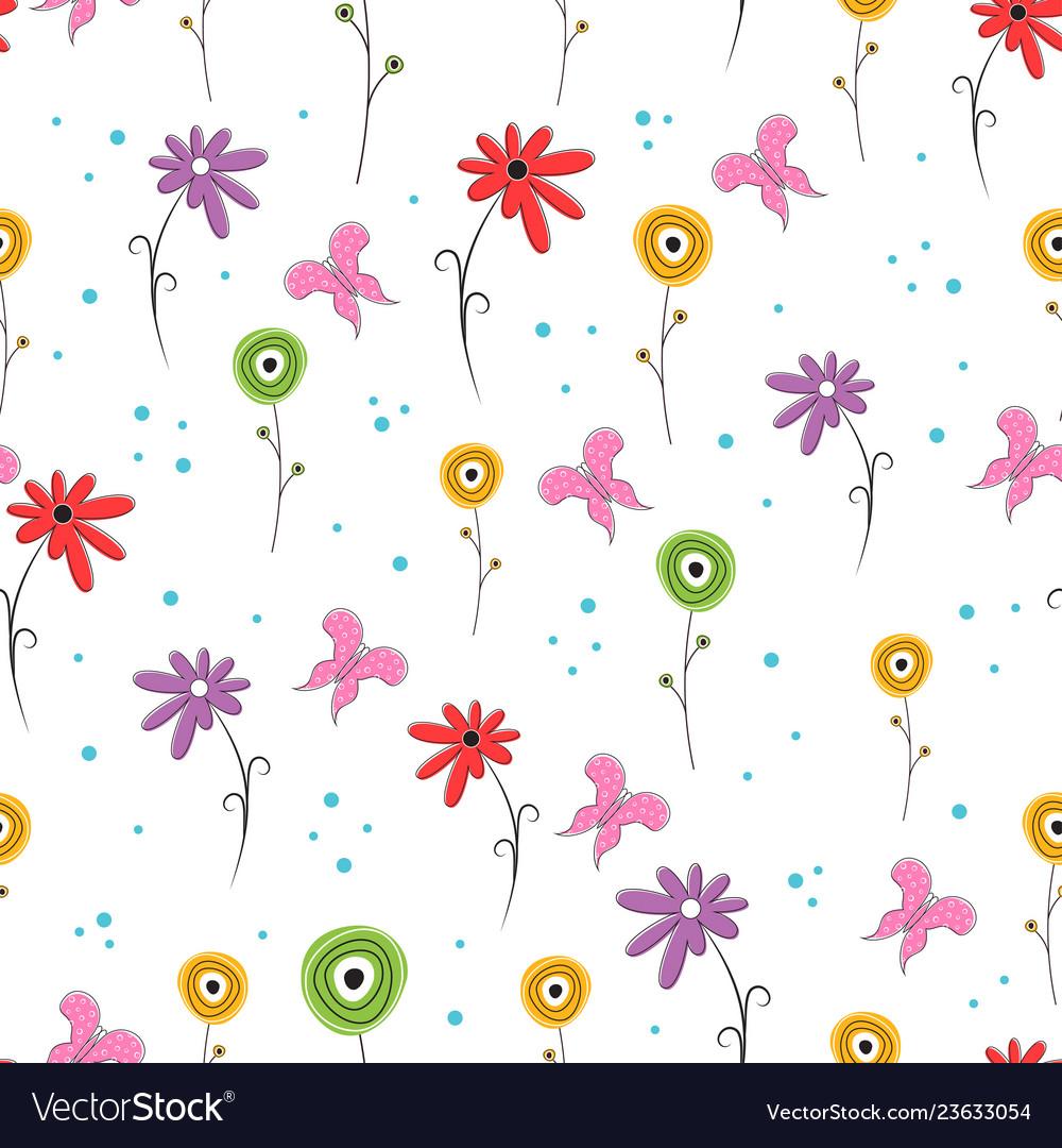 Scandinavian flower pattern