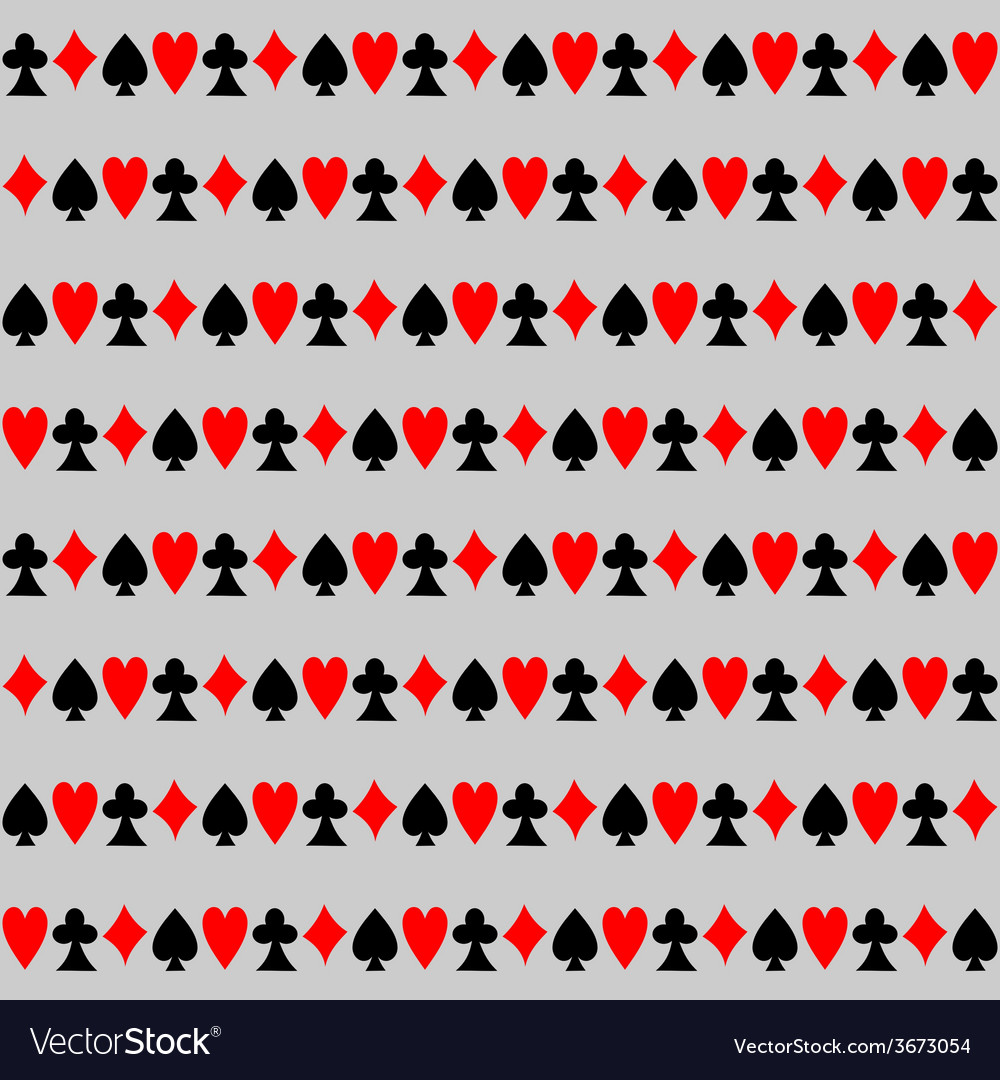 Seamless Pattern with Cards Background