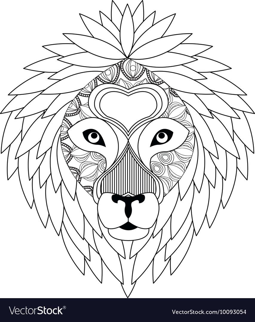 Tribal lion icon