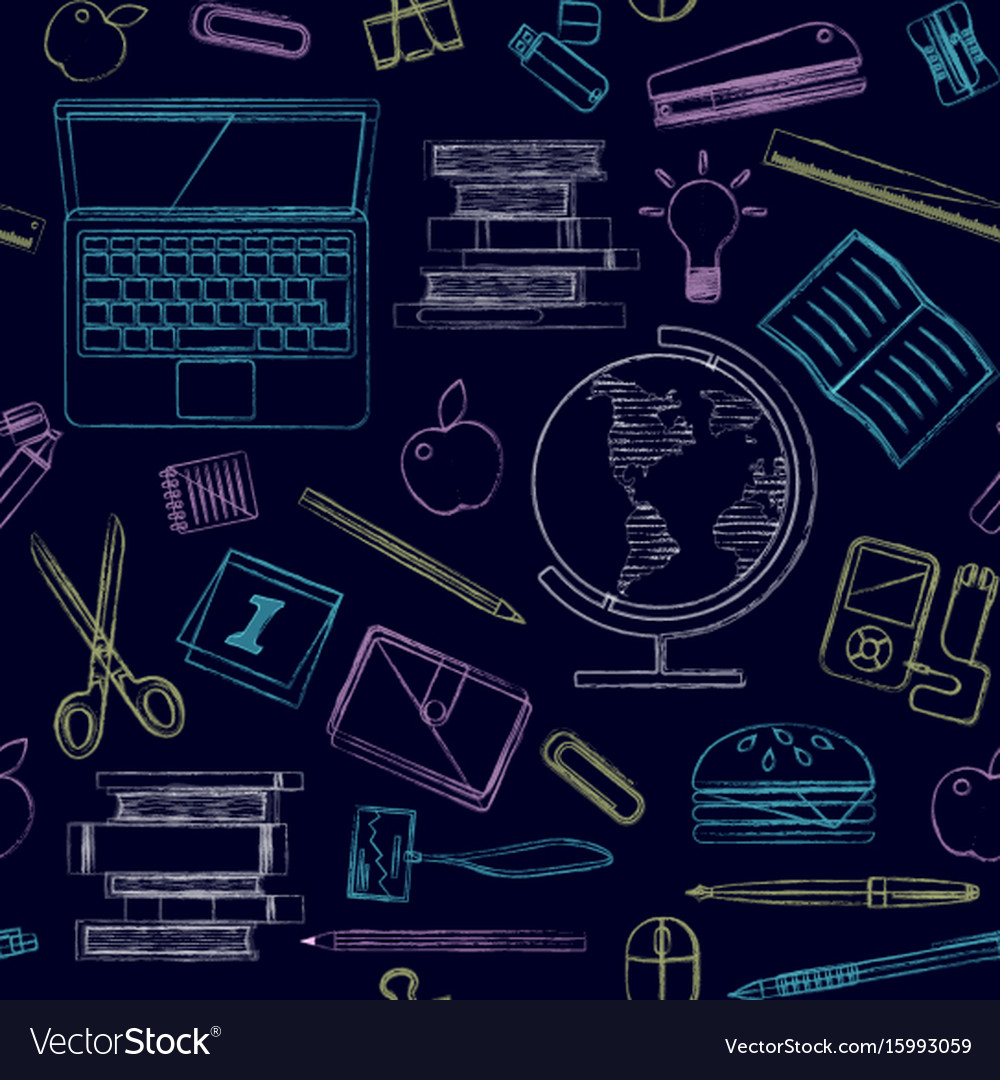 Back to school seamless pattern good for