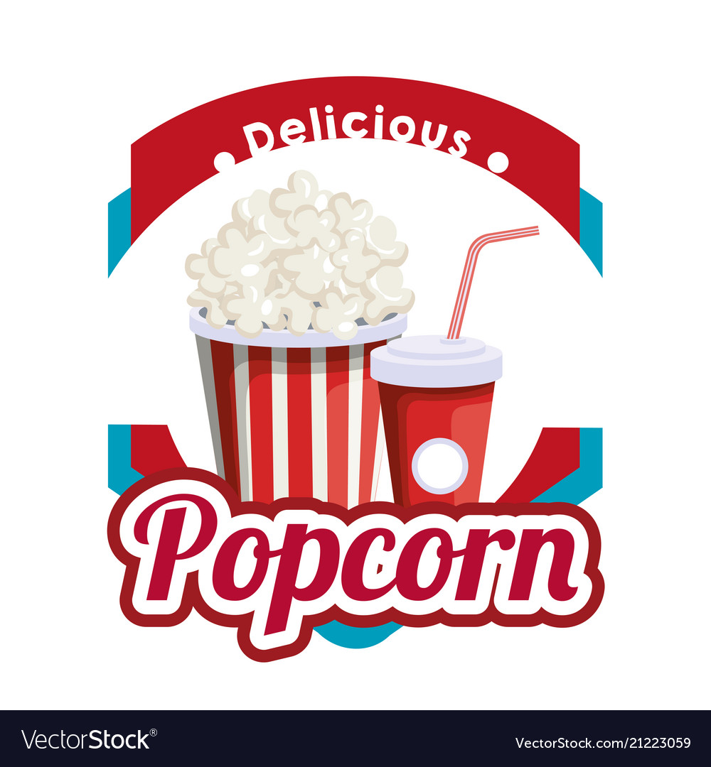 Delicious pop corn with soda fast food