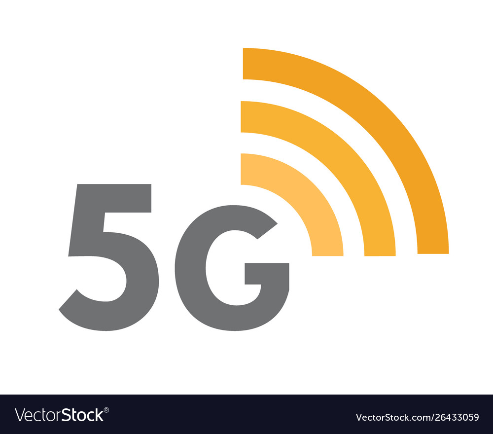 Fifth generation network icon 5g wireless vector