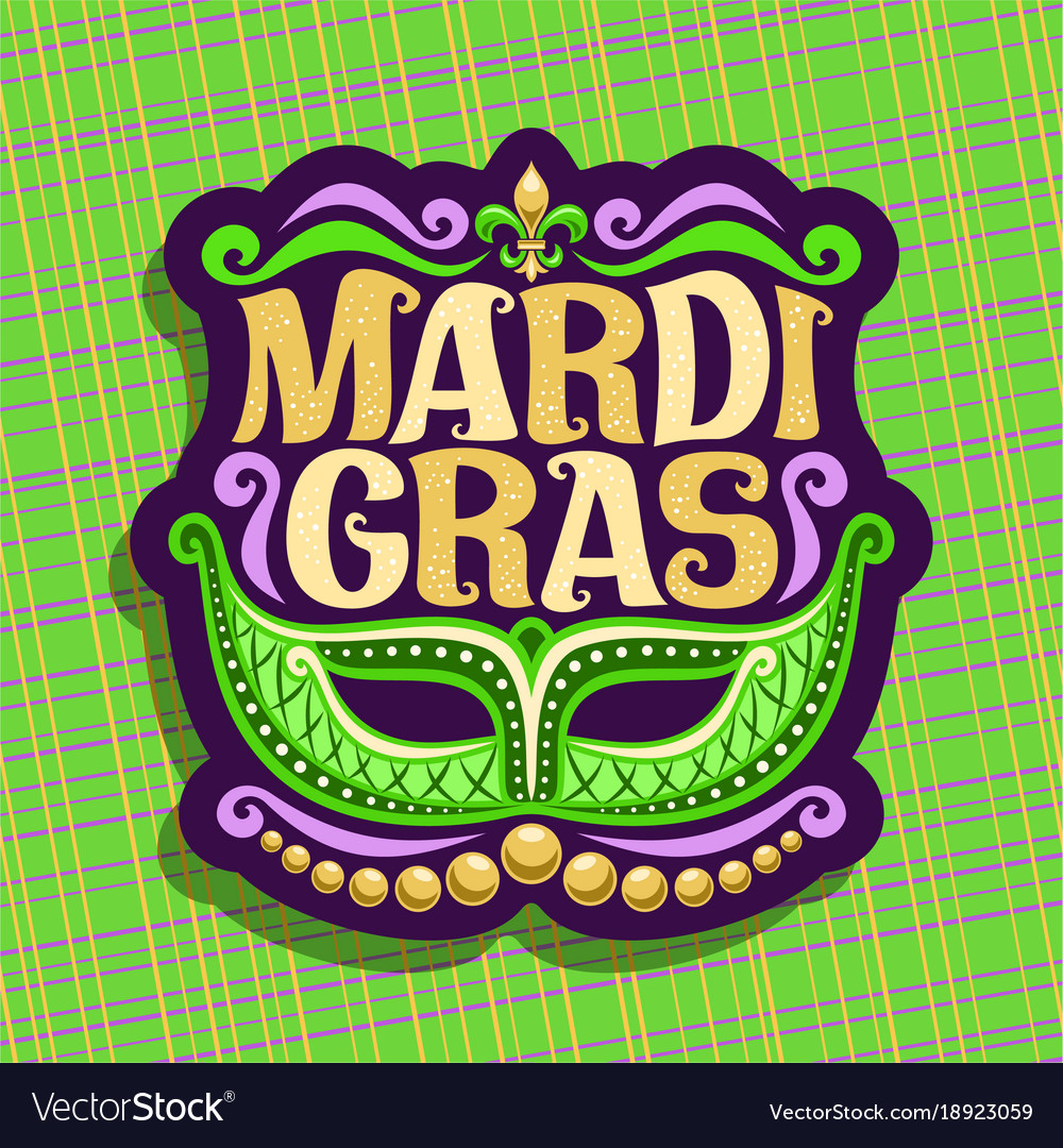 Logo for mardi gras vector image