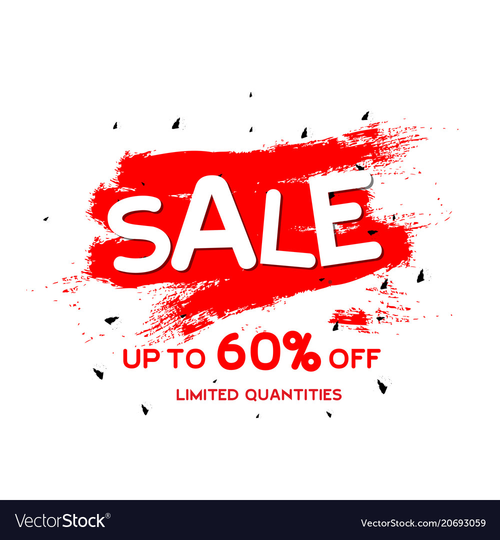 Sale up to 60 limited quantities red paint backgr