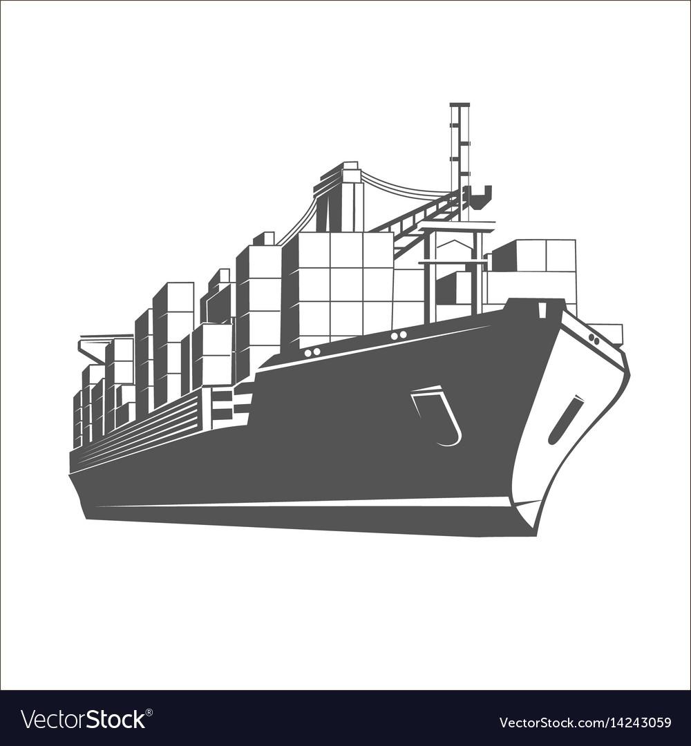 Ship logo template vector image