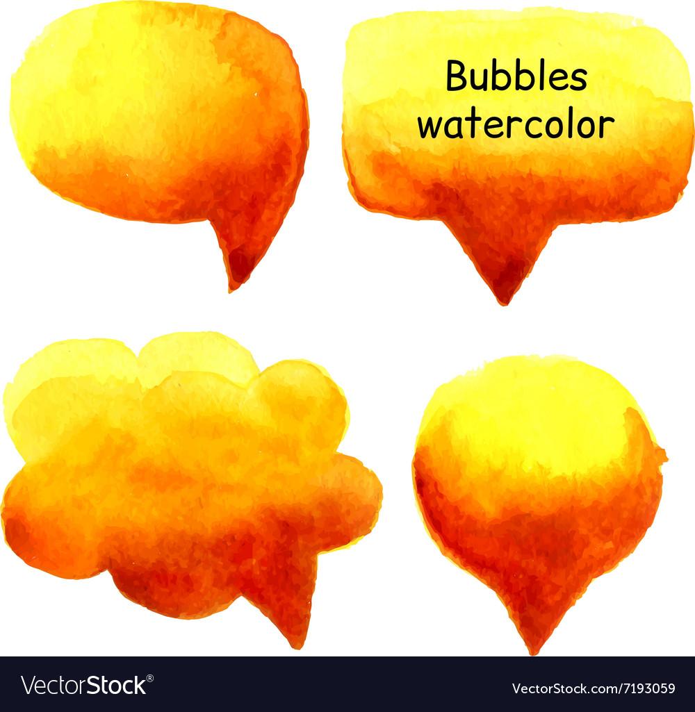 Speak bubbles watercolor set