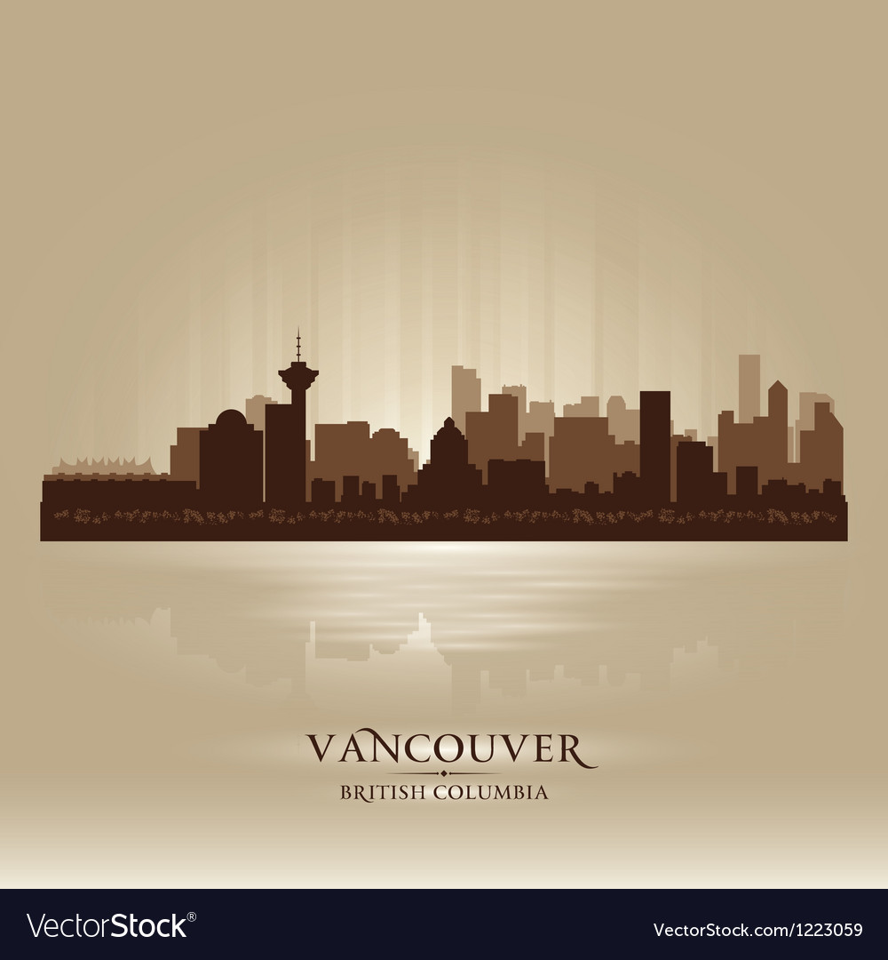 Vancouver British Columbia skyline city silhouette