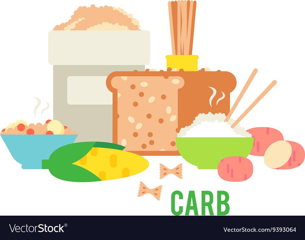Carbs Food Royalty Free Vector Image Vectorstock