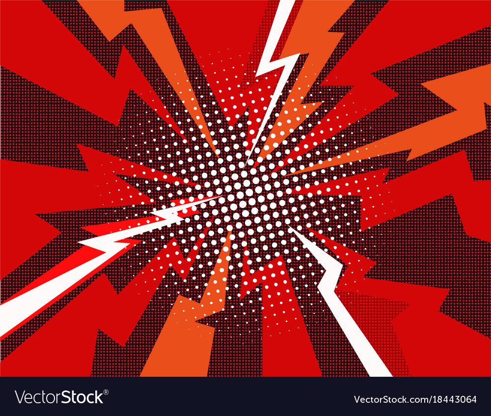 comic book explosion ray background royalty free vector