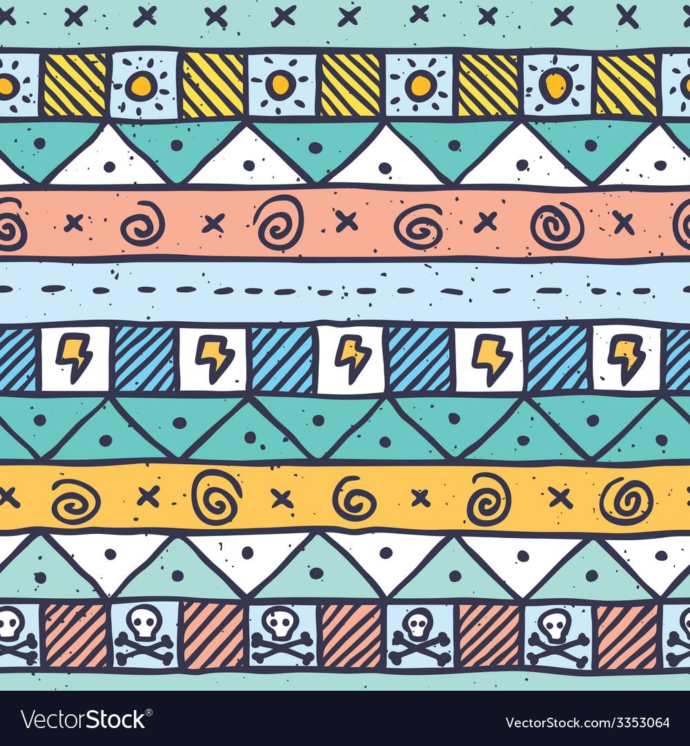 Cute native hand drawn pattern