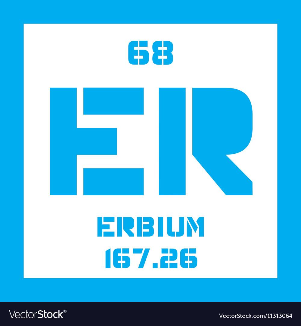 Erbium Chemical Element Royalty Free Vector Image