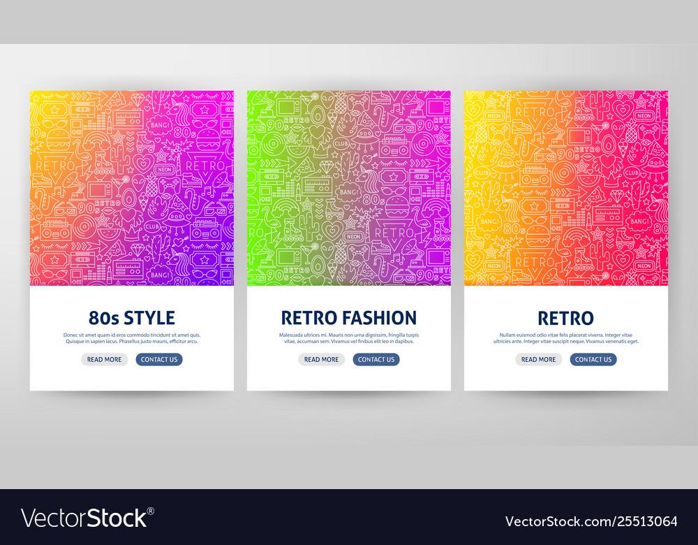 Retro flyer concepts