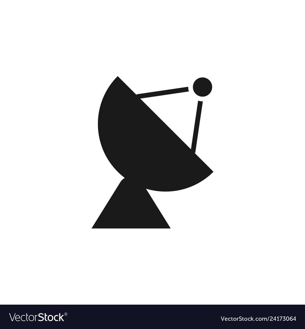 Satellite icon design template isolated