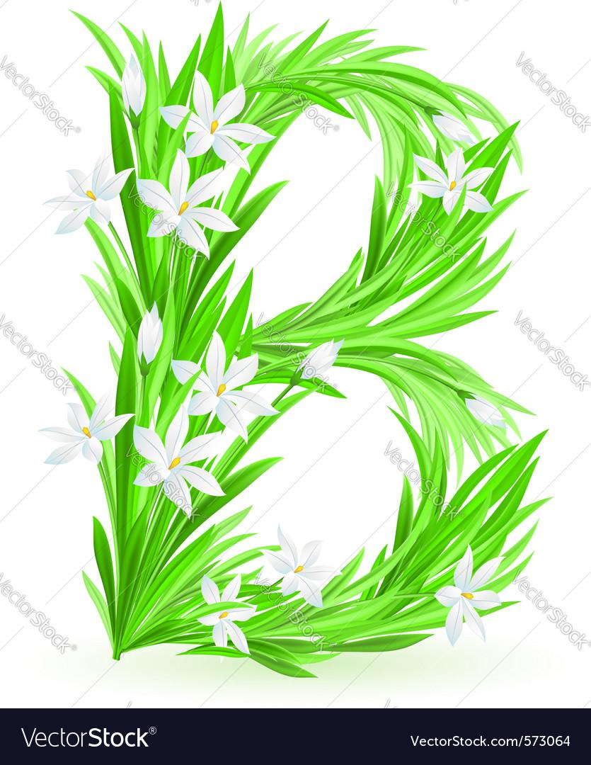 Spring flowers alphabet b royalty free vector image spring flowers alphabet b vector image mightylinksfo