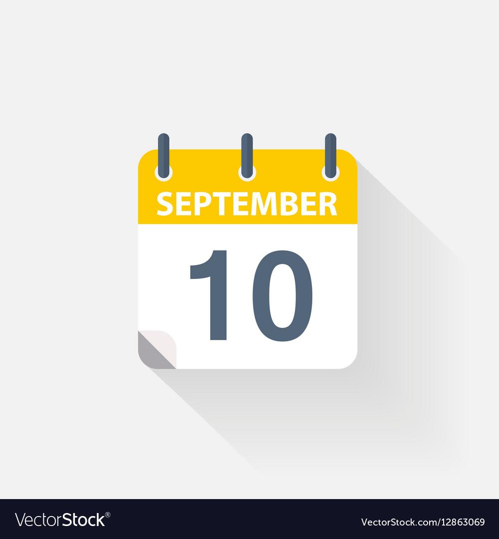 10 september calendar icon