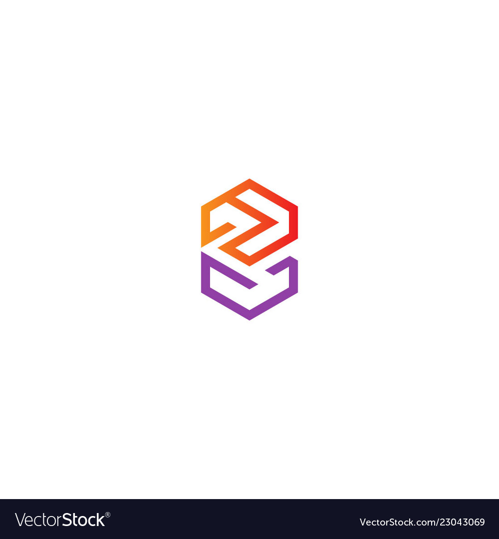 Abstract geometry line colored logo