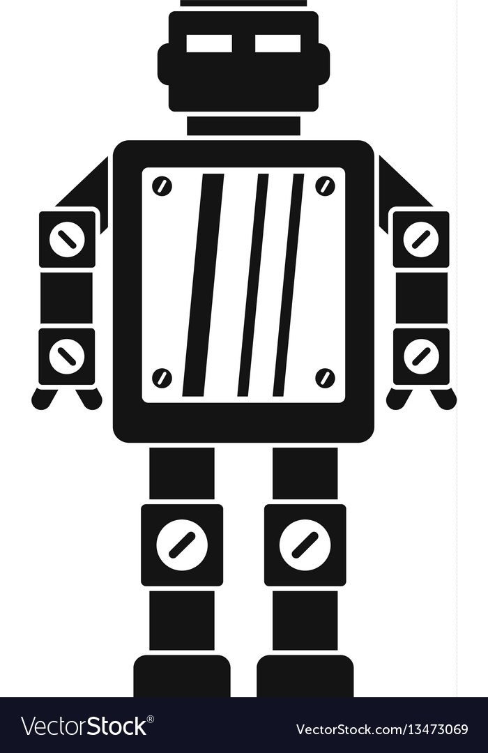 Abstract robot icon simple style