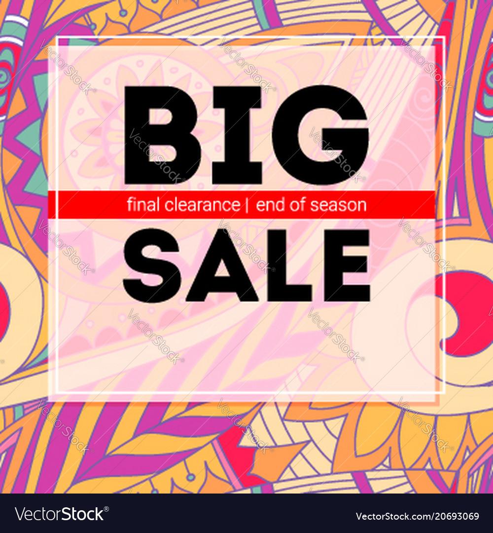 Big sale banner get up to discount sales poster