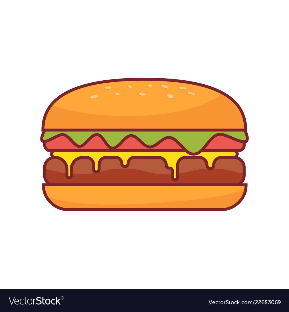 Burger icon fast food