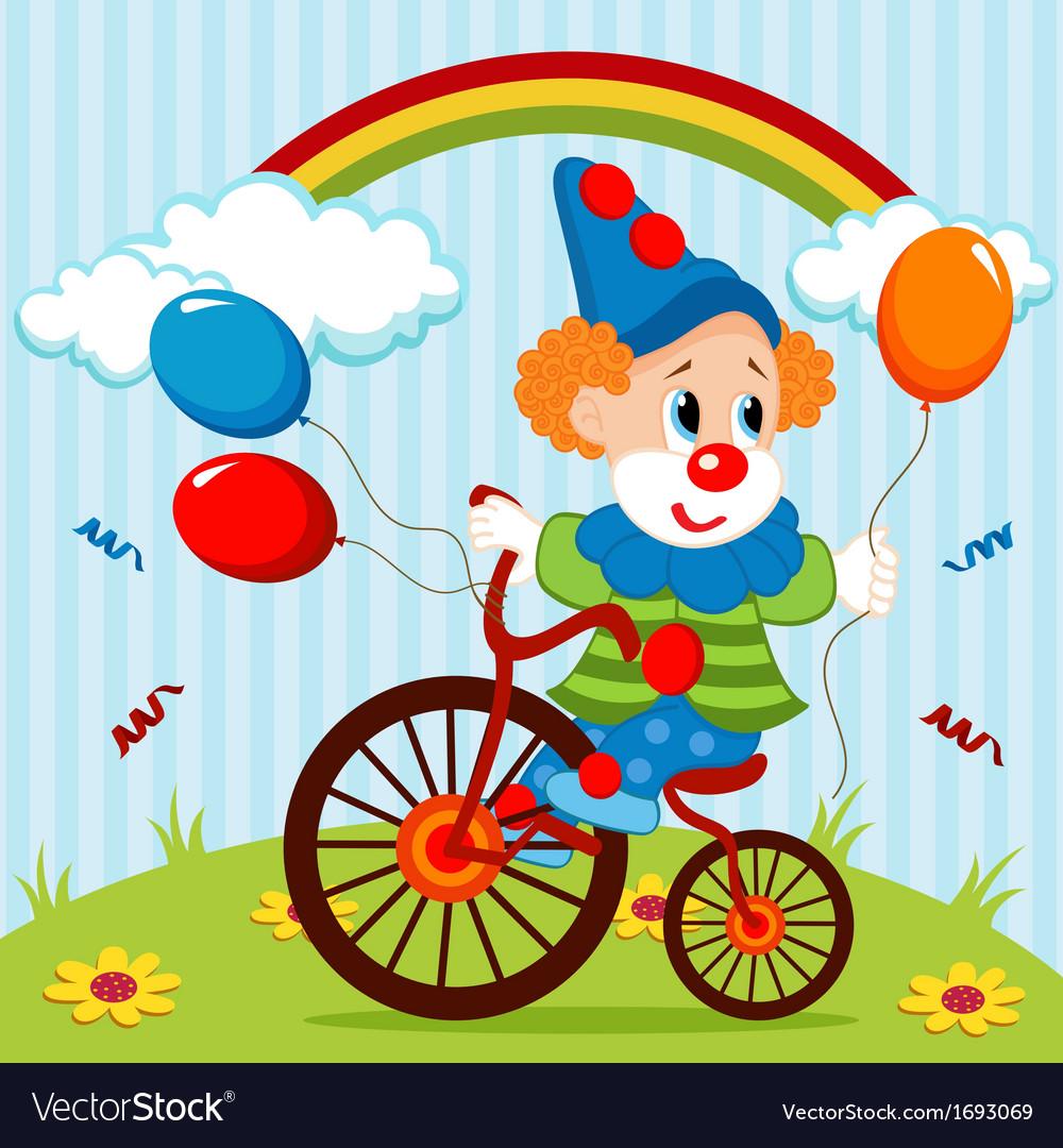 Clown on bike